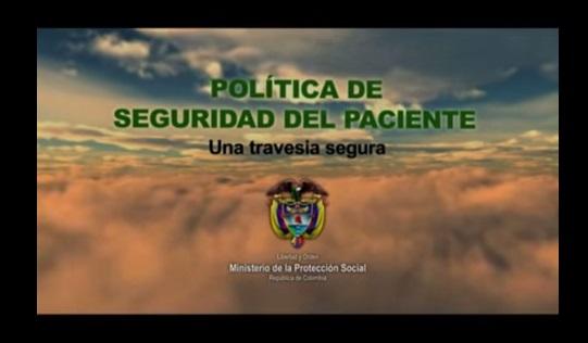 POLITICA SEGURIDAD DEL PACIENTE MINISTERIO DE PROTECCION SOCIAL COLOMBIA